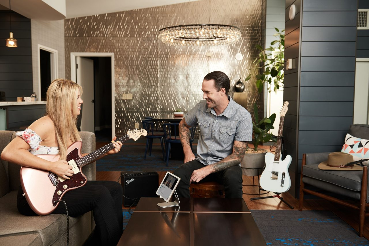 Hutton Hotel and Fender Guitars Team Up to Help Guests Learn to Play
