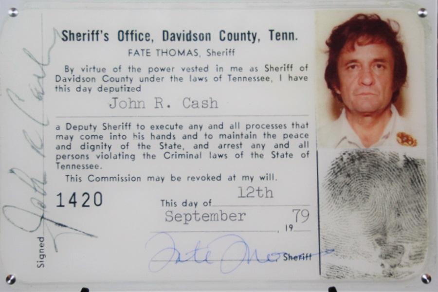 Introducing: Davidson County Deputy Sheriff Johnny Cash