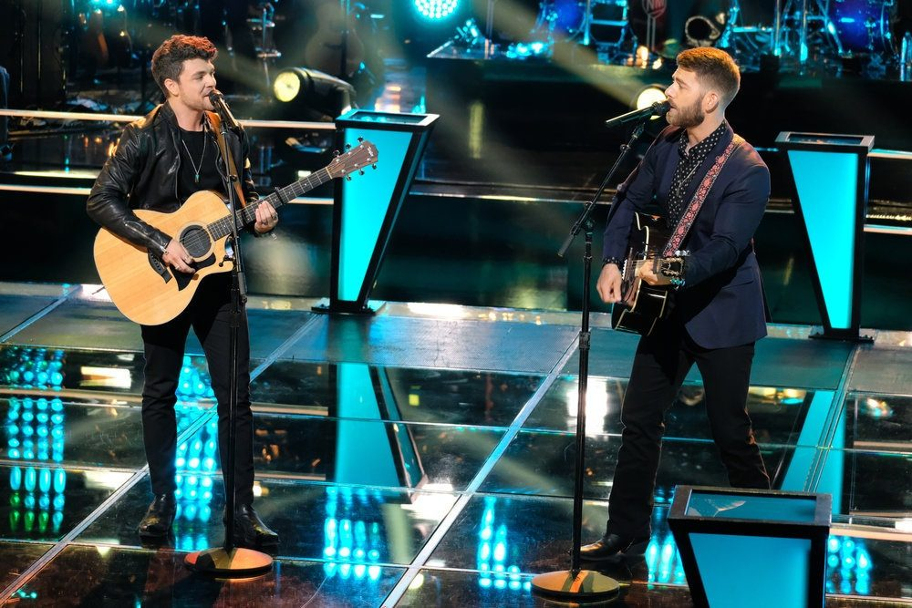 The Voice Recap: Team Blake's Zach Bridges and Cory Jackson Battle With Toby Keith Song