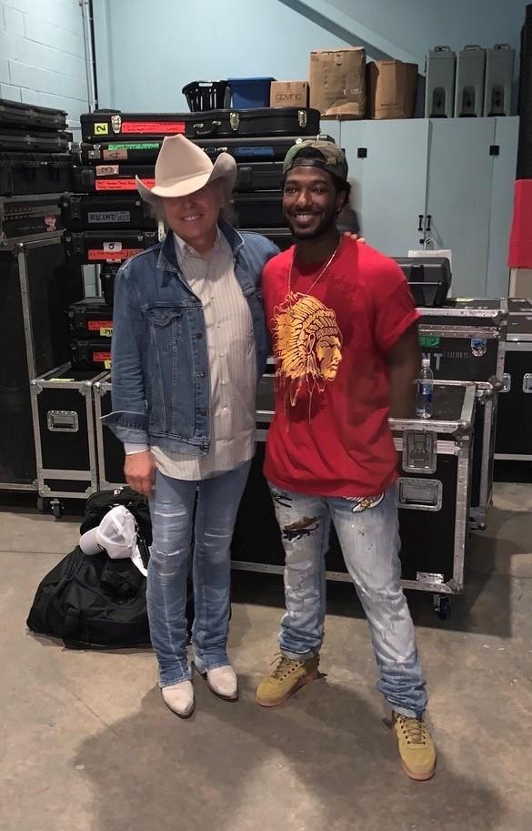 Dwight Yoakam and Willie Jones; Photo courtesy of Willie Jones