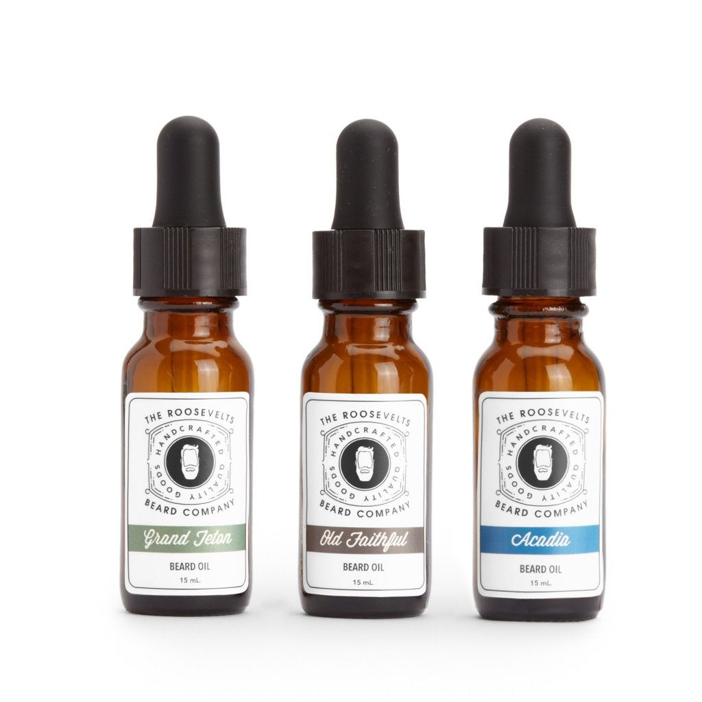 The Roosevelts Beard Company Beard Oil Sampler; Photo courtesy of The Roosevelts Beard Company
