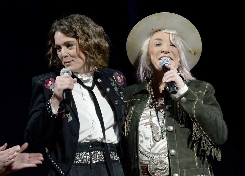 NASHVILLE, TENNESSEE - NOVEMBER 12: Tanya Tucker and Brandi Carlile attend the 2019 CMT Next Women Of Country Celebration at CMA Theater at the Country Music Hall of Fame and Museum on November 12, 2019 in Nashville, Tennessee. (Photo by Rick Diamond/Getty Images for CMT)