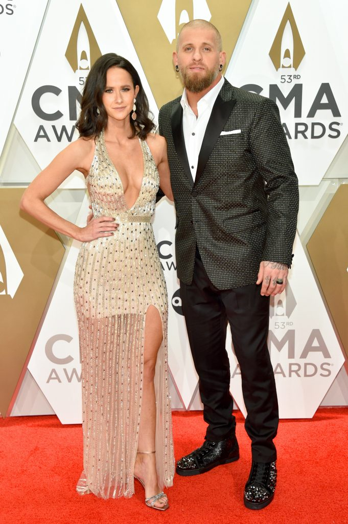NASHVILLE, TENNESSEE - NOVEMBER 13: Amber Cochran and Brantley Gilbert attend the 53rd annual CMA Awards at the Music City Center on November 13, 2019 in Nashville, Tennessee. (Photo by John Shearer/WireImage,)