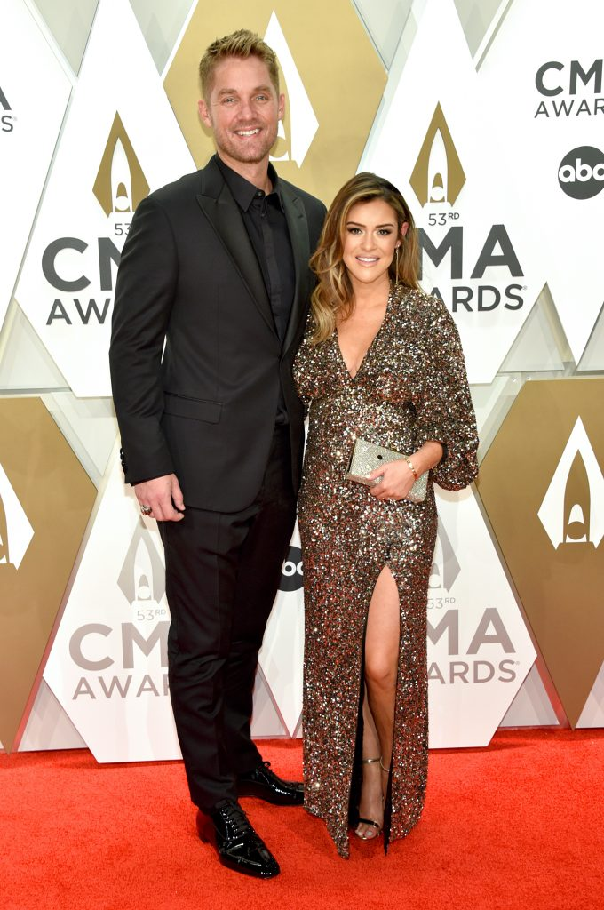 NASHVILLE, TENNESSEE - NOVEMBER 13: Brett Young and Taylor Mills attend the 53rd annual CMA Awards at the Music City Center on November 13, 2019 in Nashville, Tennessee. (Photo by John Shearer/WireImage,)