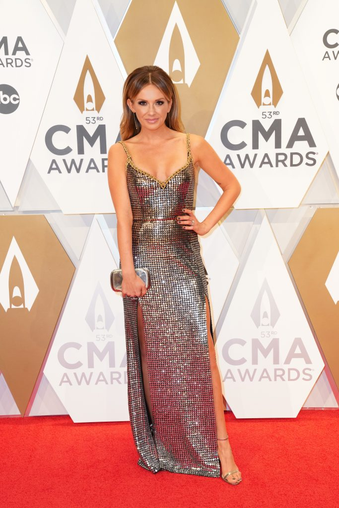"""Carly Pearce on the Red Carpet at """"The 53rdAnnual CMA Awards,"""" on Wednesday, November 13, 2019 at Bridgestone Arena in Downtown Nashville. Photo courtesy of CMA"""