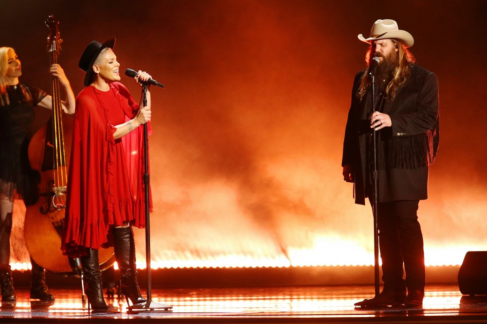 Watch P!nk and Chris Stapleton's CMA Duet on 'Love Me Anyway'
