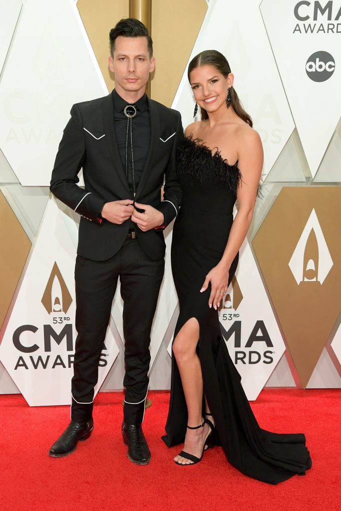 NASHVILLE, TENNESSEE - NOVEMBER 13: Devin Dawson and Leah Sykes attend the 53rd annual CMA Awards at the Music City Center on November 13, 2019 in Nashville, Tennessee. (Photo by Jason Kempin/Getty Images)