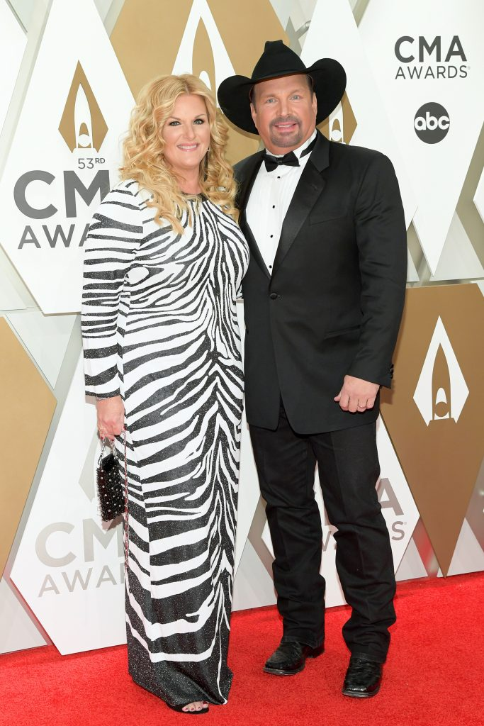 NASHVILLE, TENNESSEE - NOVEMBER 13: Trisha Yearwood and Garth Brooks attend the 53rd annual CMA Awards at the Music City Center on November 13, 2019 in Nashville, Tennessee. (Photo by Jason Kempin/Getty Images)