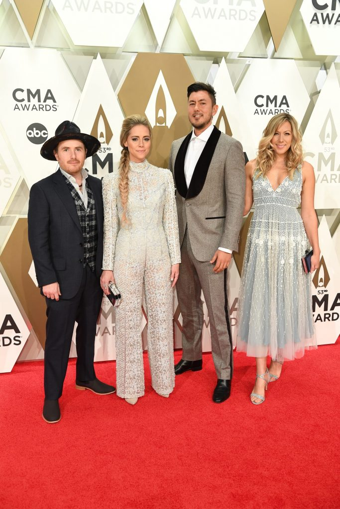"""THE 53RD ANNUAL CMA AWARDS - Carrie Underwood hosts """"The 53rd Annual CMA Awards"""" with special guest hosts Reba McEntire and Dolly Parton, celebrating legendary women in Country Music throughout the ceremony. Country Music's Biggest Night broadcasts live from Bridgestone Arena in Nashville WEDNESDAY, NOV. 13 (8:00-11:00 p.m. EST), on ABC. (ABC/Image Group LA) GONE WEST, COLBIE CAILLAT"""