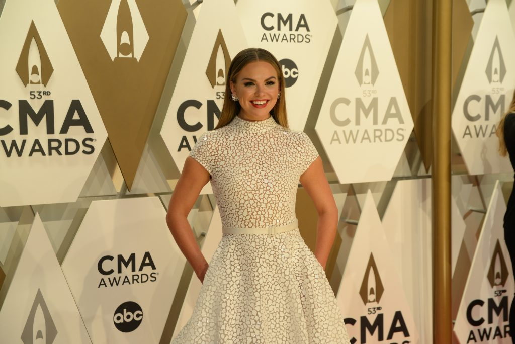 """Hannah Brown on the Red Carpet at """"The 53rd Annual CMA Awards,"""" on Wednesday, November 13, 2019 at Bridgestone Arena in Downtown Nashville. Photo courtesy of CMA"""
