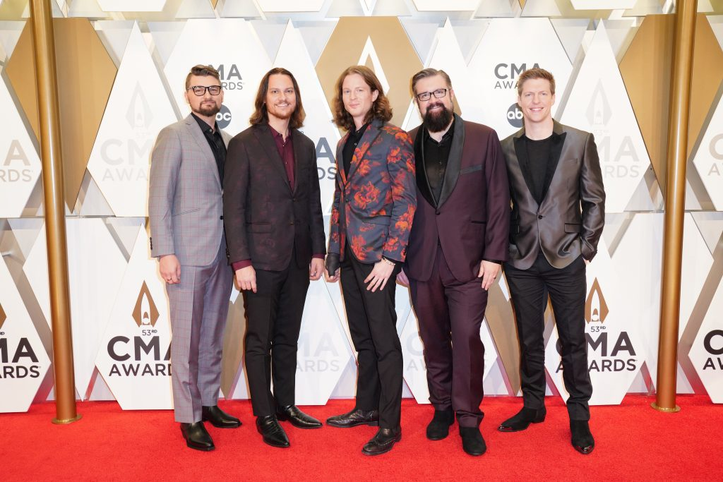 "Home Free on the Red Carpet at ""The 53rdAnnual CMA Awards,"" on Wednesday, November 13, 2019 at Bridgestone Arena in Downtown Nashville. Photo courtesy of CMA"