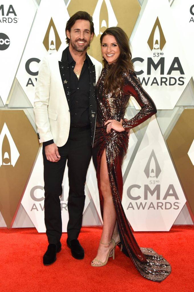NASHVILLE, TENNESSEE - NOVEMBER 13: Jake Owen and Erica Hartlein attend the 53rd annual CMA Awards at the Music City Center on November 13, 2019 in Nashville, Tennessee. (Photo by John Shearer/WireImage,)