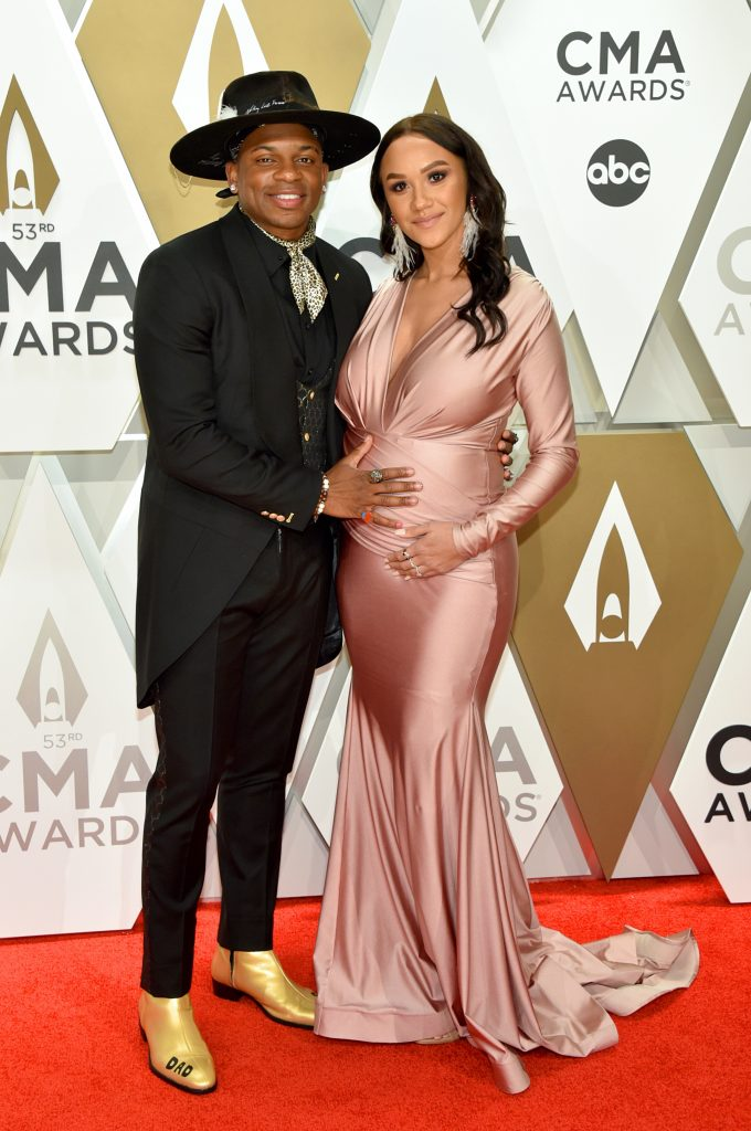 NASHVILLE, TENNESSEE - NOVEMBER 13: Jimmie Allen and Alexis Gale attend the 53rd annual CMA Awards at the Music City Center on November 13, 2019 in Nashville, Tennessee. (Photo by John Shearer/WireImage,)