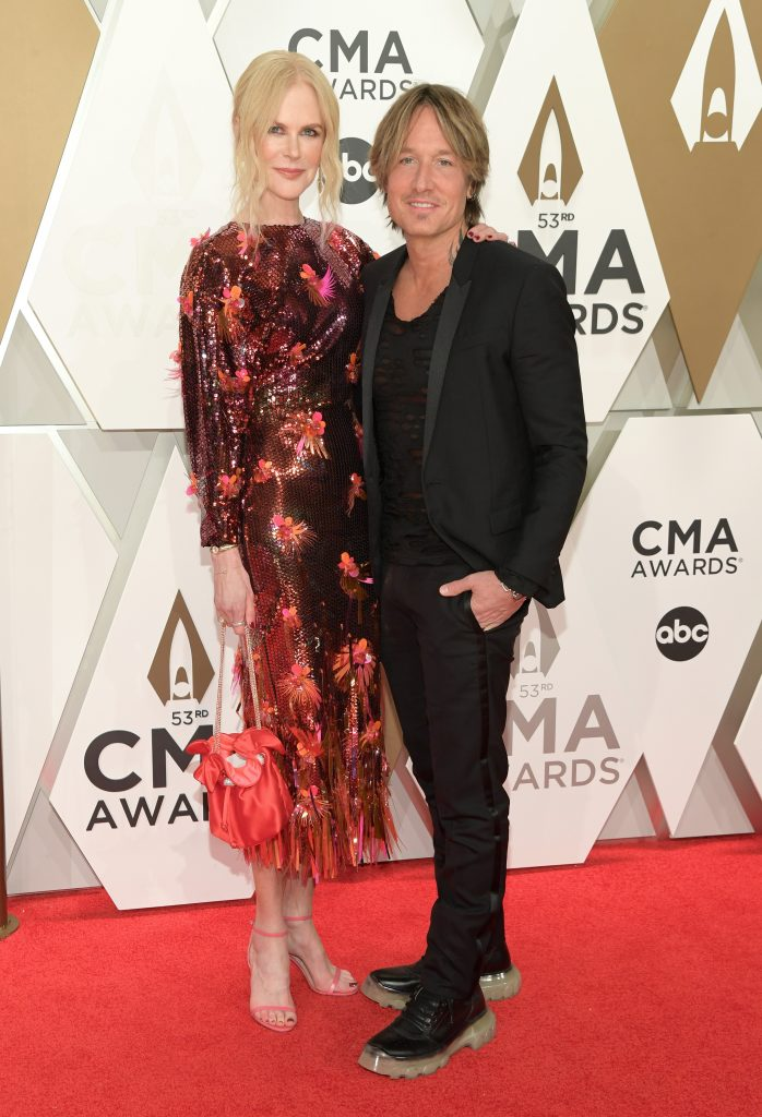 NASHVILLE, TENNESSEE - NOVEMBER 13: Nicole Kidman and Keith Urban attend the 53rd annual CMA Awards at the Music City Center on November 13, 2019 in Nashville, Tennessee. (Photo by Jason Kempin/Getty Images)
