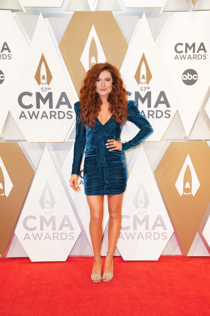 """Kylie Morgan on the Red Carpet at """"The 53rdAnnual CMA Awards,"""" on Wednesday, November 13, 2019 at Bridgestone Arena in Downtown Nashville. Photo courtesy of CMA"""