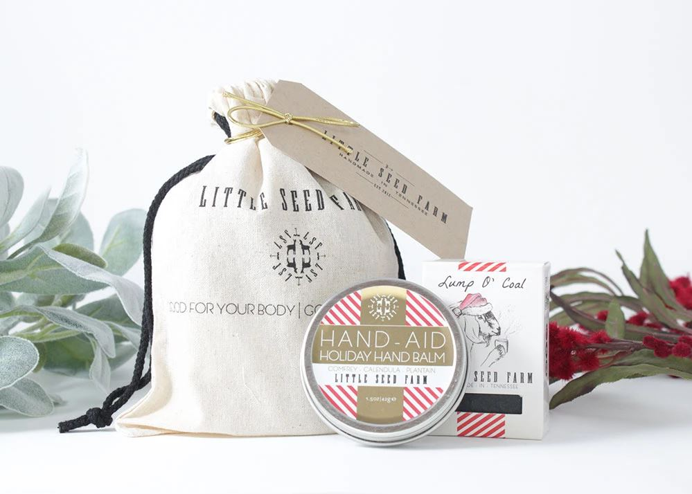 Little Seed Farm Holiday Gift Set; Photo courtesy of Little Seed Farm