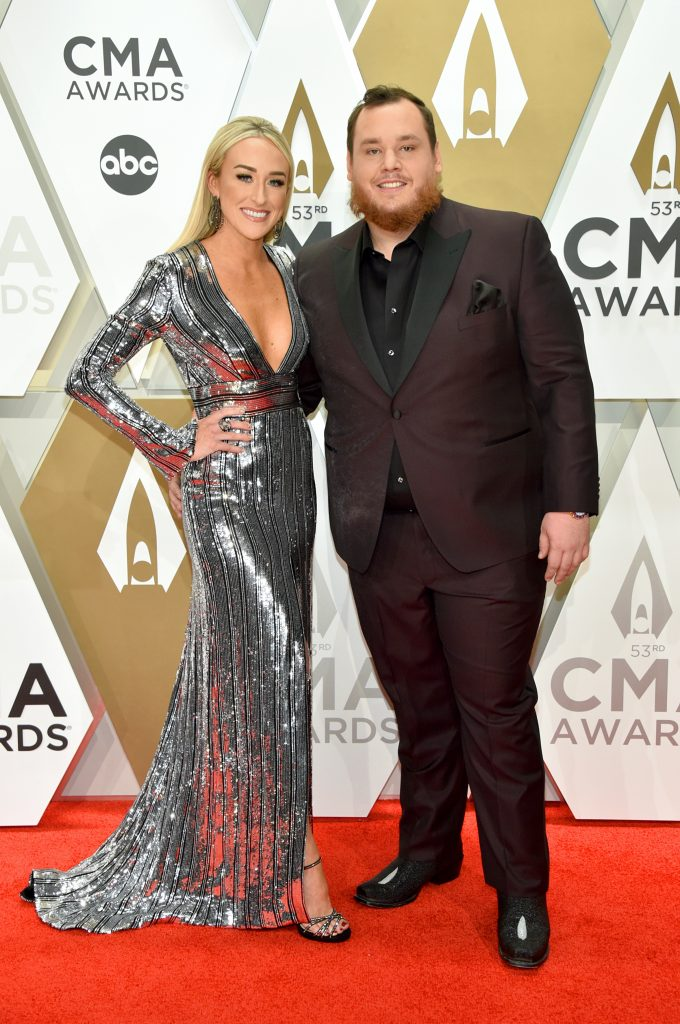 NASHVILLE, TENNESSEE - NOVEMBER 13: Luke Combs and Nicole Hocking attend the 53rd annual CMA Awards at the Music City Center on November 13, 2019 in Nashville, Tennessee. (Photo by John Shearer/WireImage,)