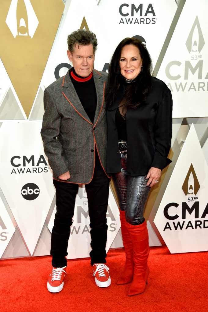 NASHVILLE, TENNESSEE - NOVEMBER 13: Randy Travis and Mary Davis attend the 53rd annual CMA Awards at the Music City Center on November 13, 2019 in Nashville, Tennessee. (Photo by John Shearer/WireImage,)