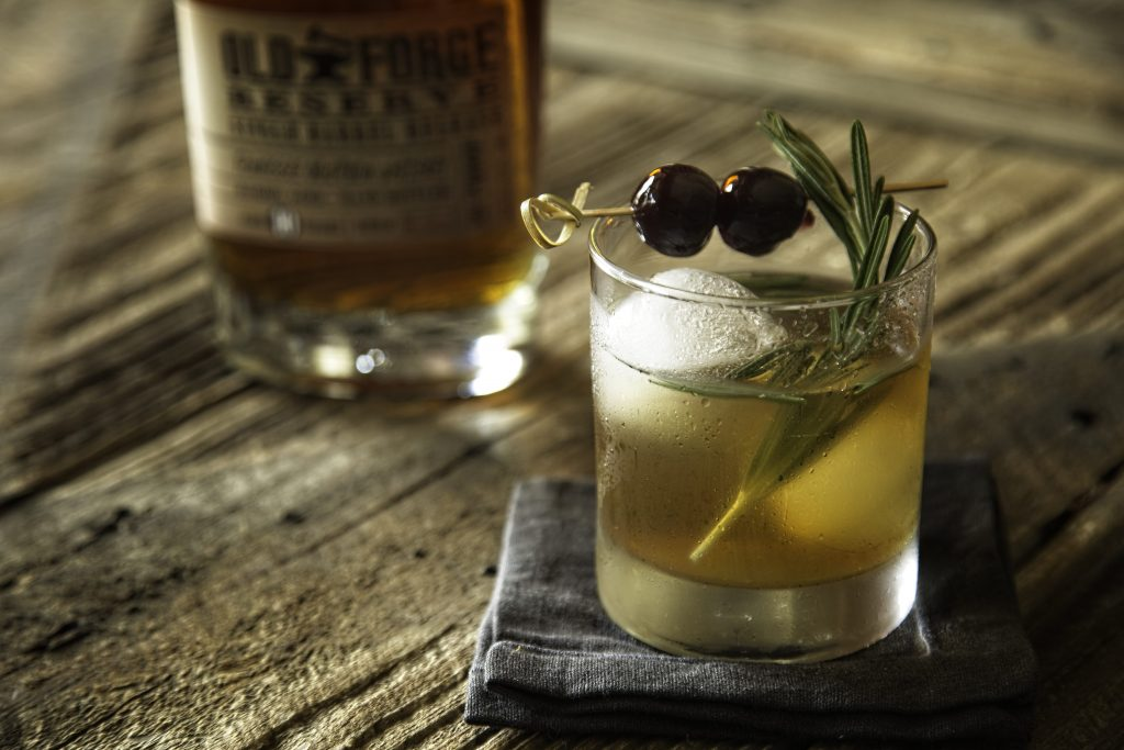 Rosemary Maple Bourbon Sour; Photo courtesy of Old Forge Distillery