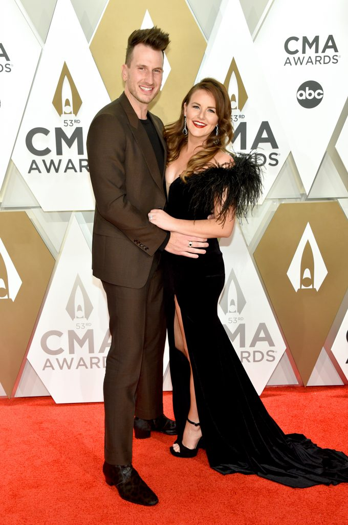 NASHVILLE, TENNESSEE - NOVEMBER 13: Russell Dickerson and Kailey Dickerson attend the 53rd annual CMA Awards at the Music City Center on November 13, 2019 in Nashville, Tennessee. (Photo by John Shearer/WireImage,)