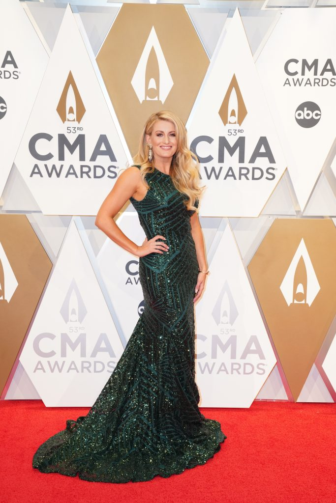 """Stephanie Quayle on the Red Carpet at """"The 53rdAnnual CMA Awards,"""" on Wednesday, November 13, 2019 at Bridgestone Arena in Downtown Nashville. Photo courtesy of CMA"""
