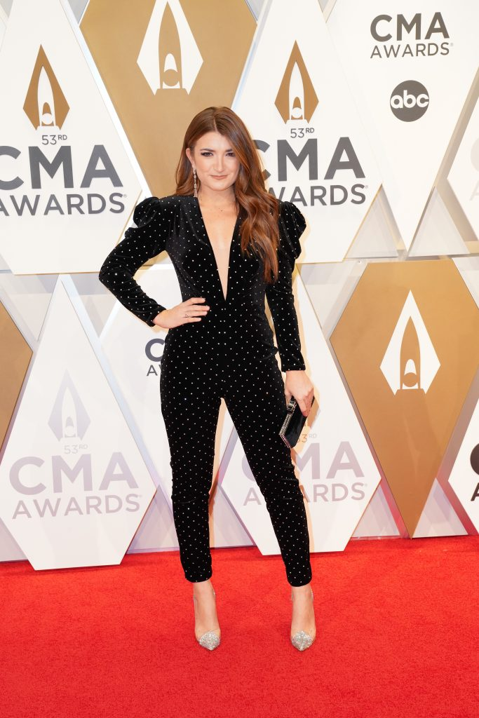 """Tenille Townes on the Red Carpet at """"The 53rdAnnual CMA Awards,"""" on Wednesday, November 13, 2019 at Bridgestone Arena in Downtown Nashville. Photo courtesy of CMA"""