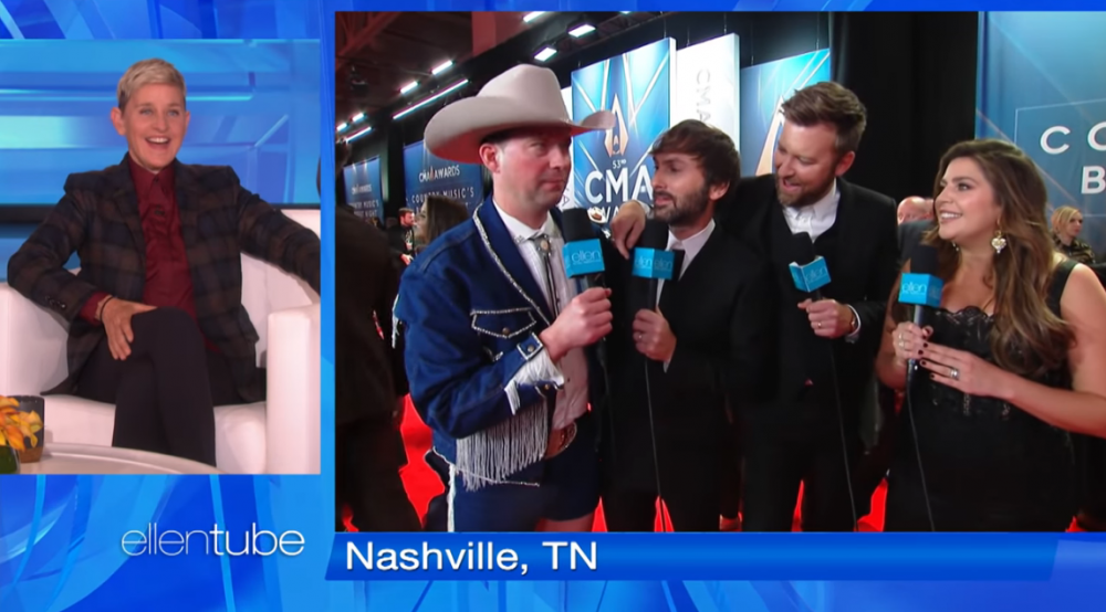 'Ellen' Producer Takes Over the CMA Awards Red Carpet
