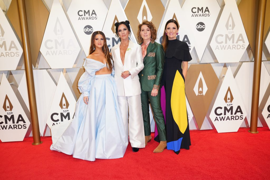 "The Highwomen on the Red Carpet at ""The 53rdAnnual CMA Awards,"" on Wednesday, November 13, 2019 at Bridgestone Arena in Downtown Nashville; Photo courtesy of CMA"