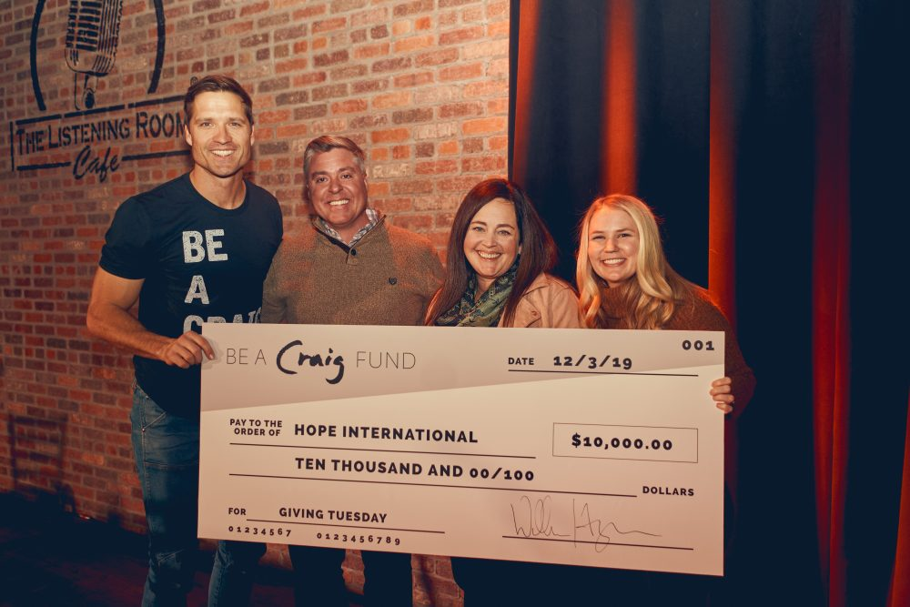 Walker Hayes Donates $10,000 to Hope International