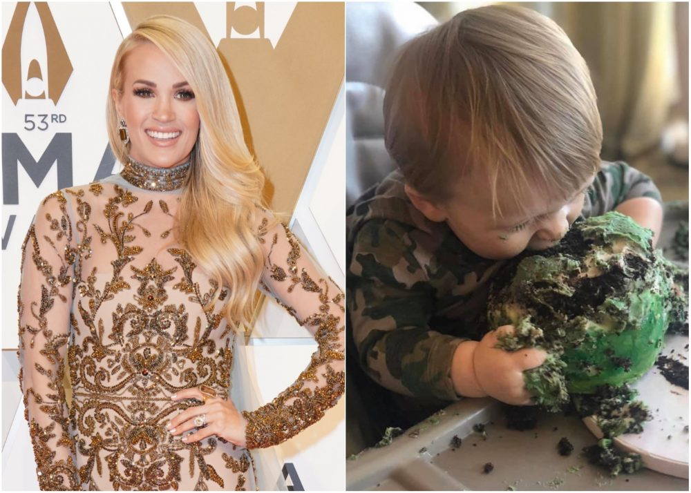 Carrie Underwood Celebrates Son's First Birthday With Smash Cake Photos