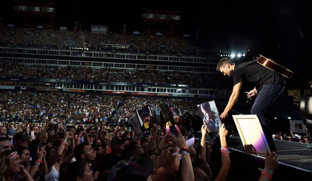 Eric Church at Nissan Stadium; Photo courtesy of Getty Images