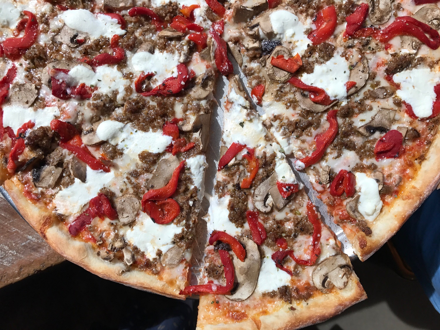 Five Points Pizza Sausage and Ricotta Pizza; Photo credit: Ashley Hylbert