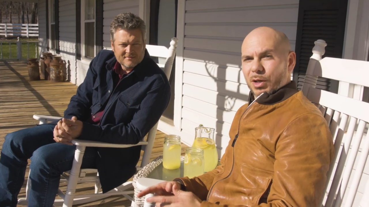Blake Shelton and Pitbull Go Behind the Scenes of 'Get Ready' Video