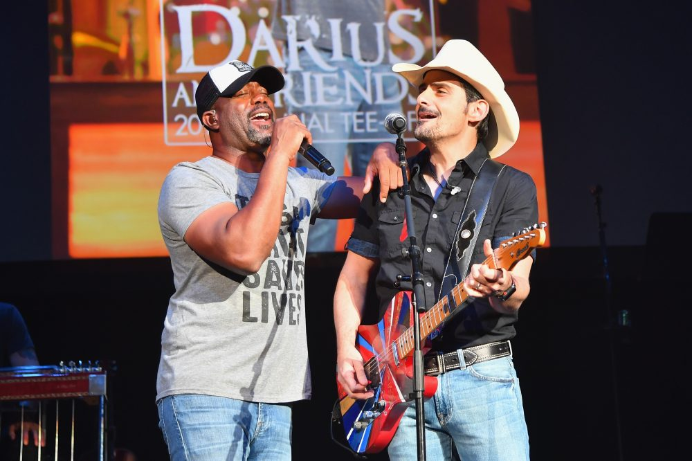 Brad Paisley, Tim McGraw, Darius Rucker and Jimmie Allen Have 'Family Tradition' Jam
