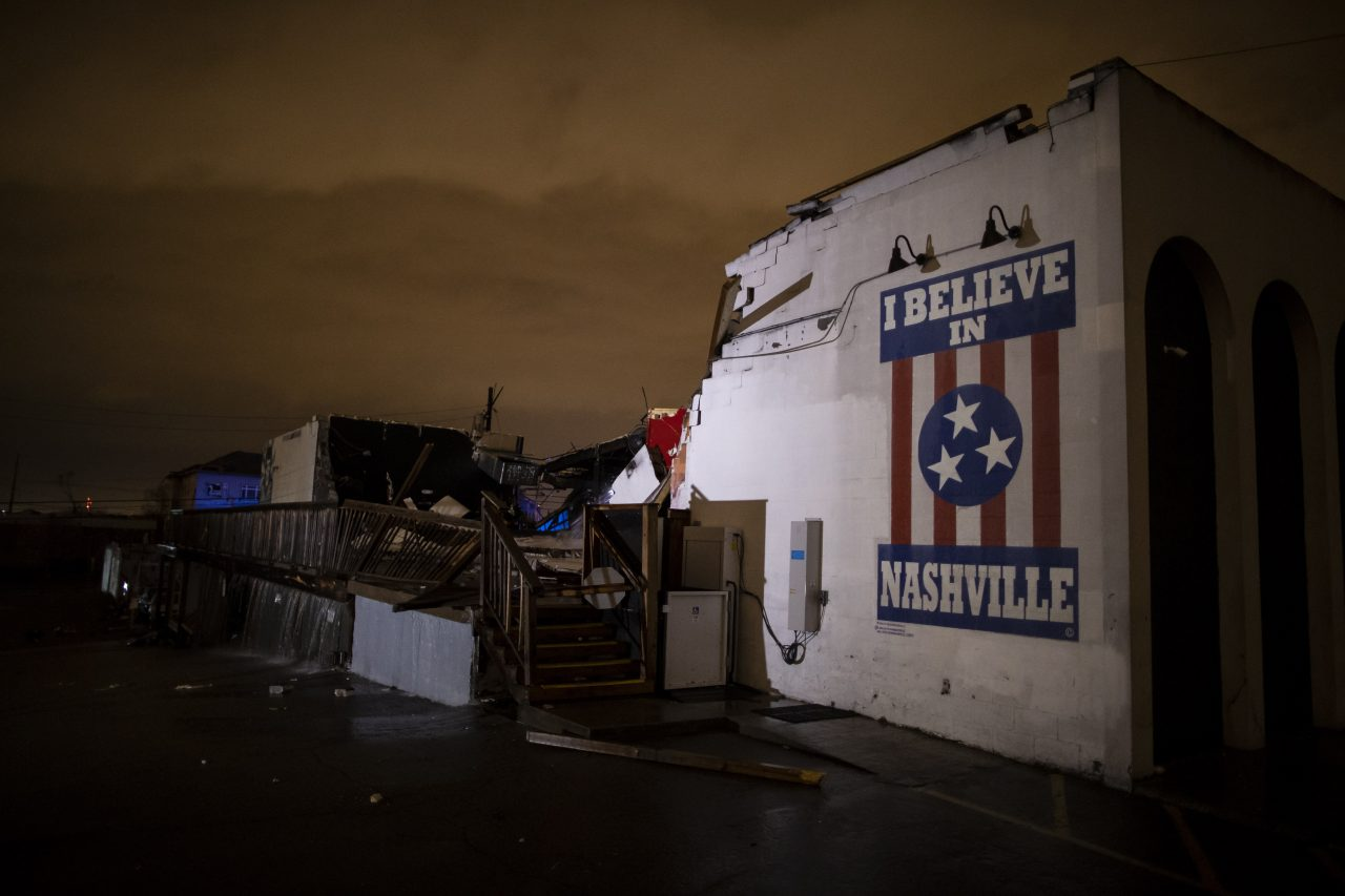 Tornado Ravages East Nashville and Germantown Areas of Music City