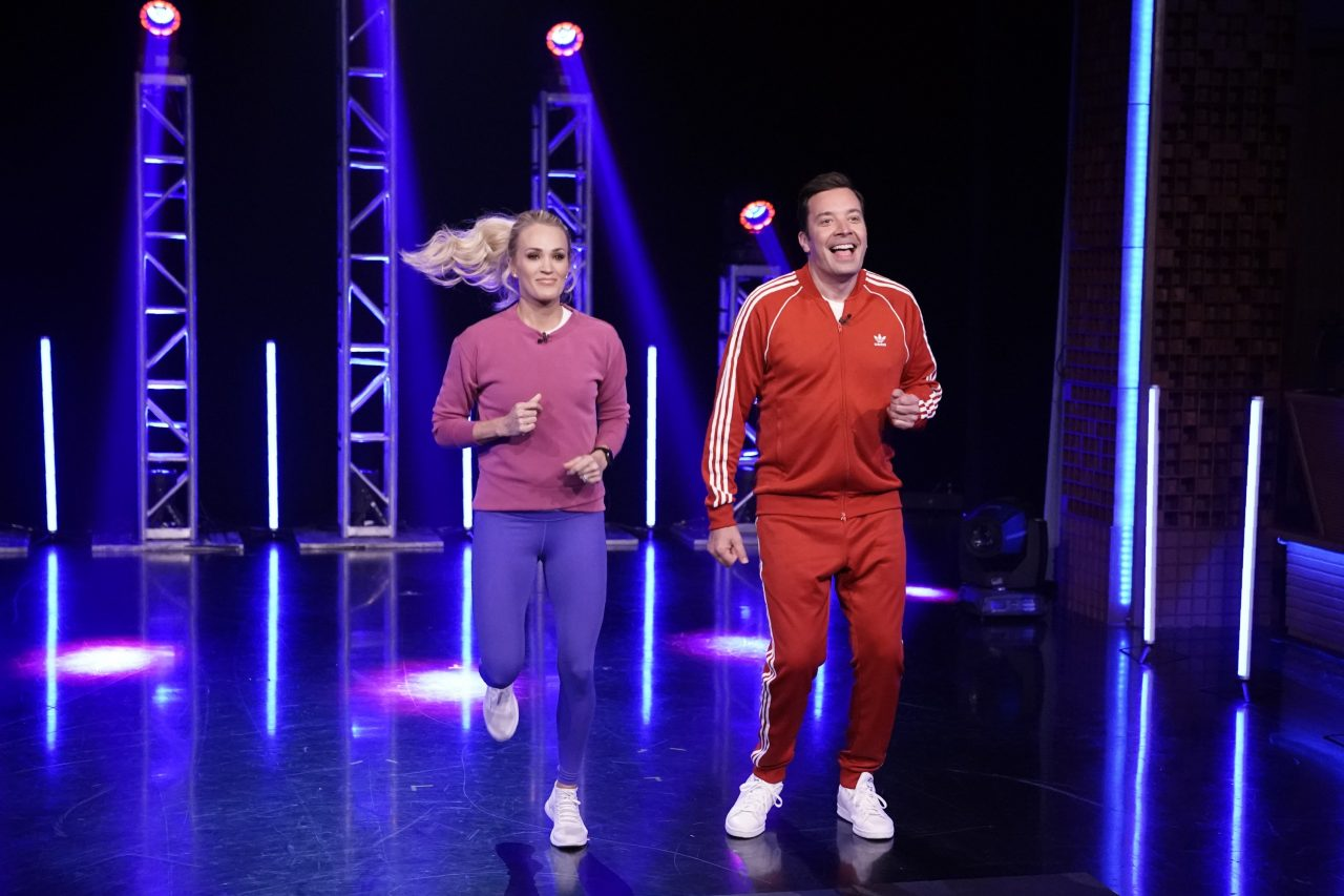 Carrie Underwood and Jimmy Fallon Break a Sweat on 'The Tonight Show'