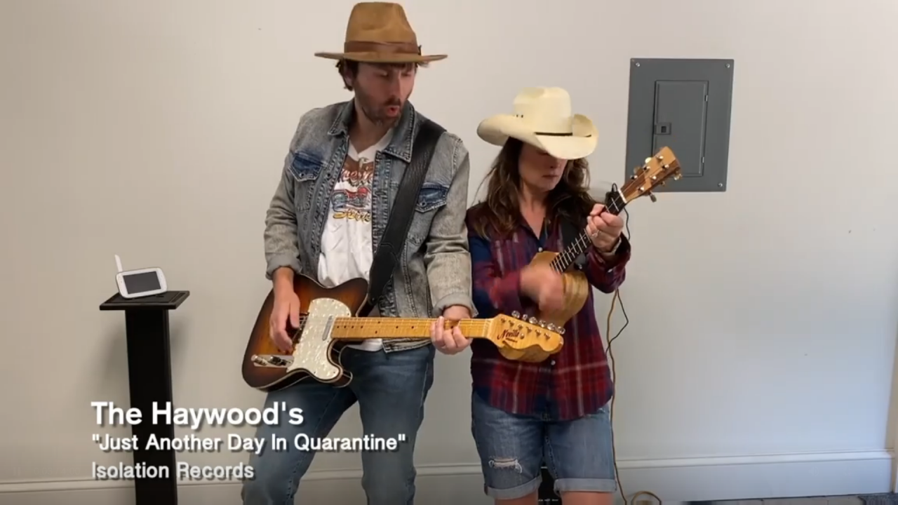 Dave Haywood And Wife Kelli Perform Quarantine Version of 'Just Another Day In Paradise'