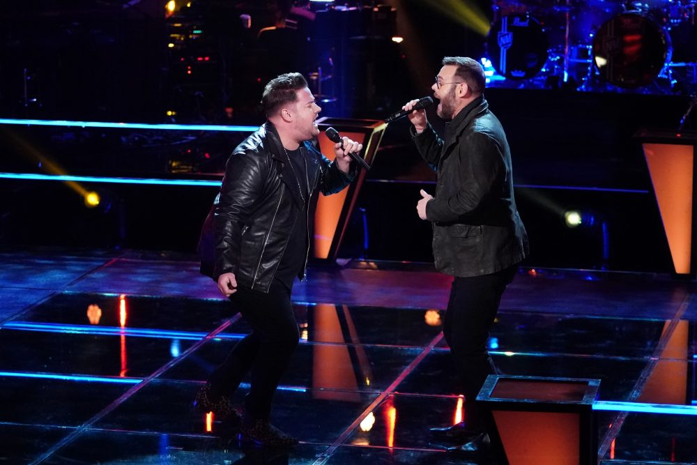 The Voice Recap: Team Blake's Jon Mullins and Todd Tilghman Sing Shenandoah Hit During Battle Round
