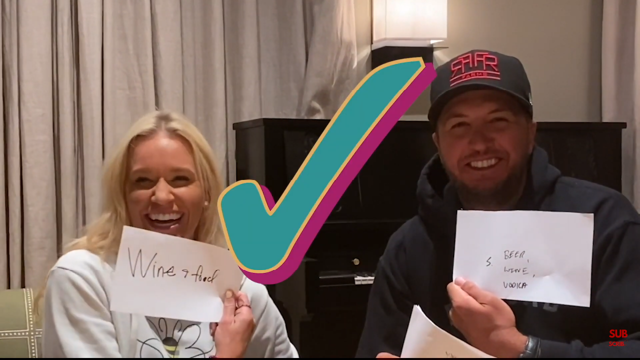 Luke Bryan, Jason Aldean, Kane Brown and Chuck Wicks Play 'The Newlywed Challenge' With Their Wives