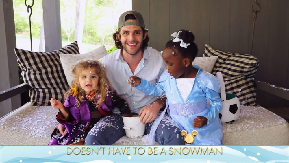 Thomas Rhett And Daughters Ask Age-Old Question – 'Do You Wanna Build a Snowman?'