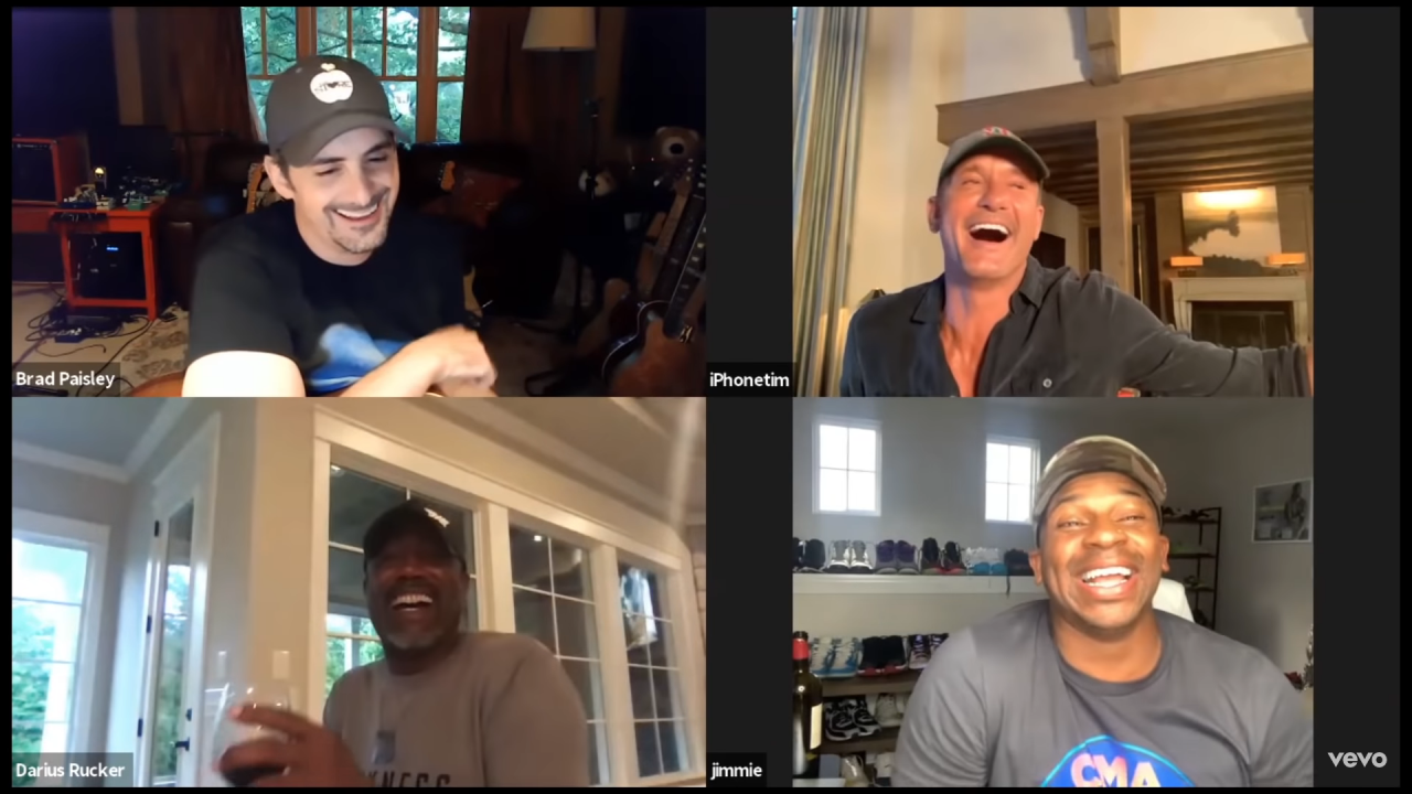 Brad Paisley Enlists Famous Friends for 'No I In Beer' Video