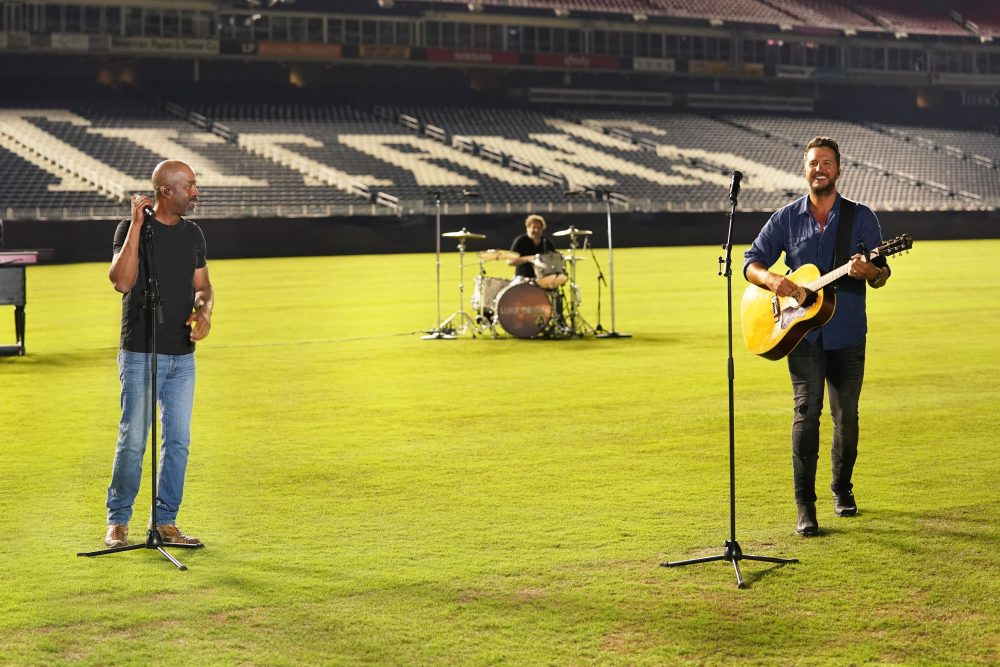 Luke Bryan and Darius Rucker Rock an Empty Stadium for 'CMA Best of Fest'