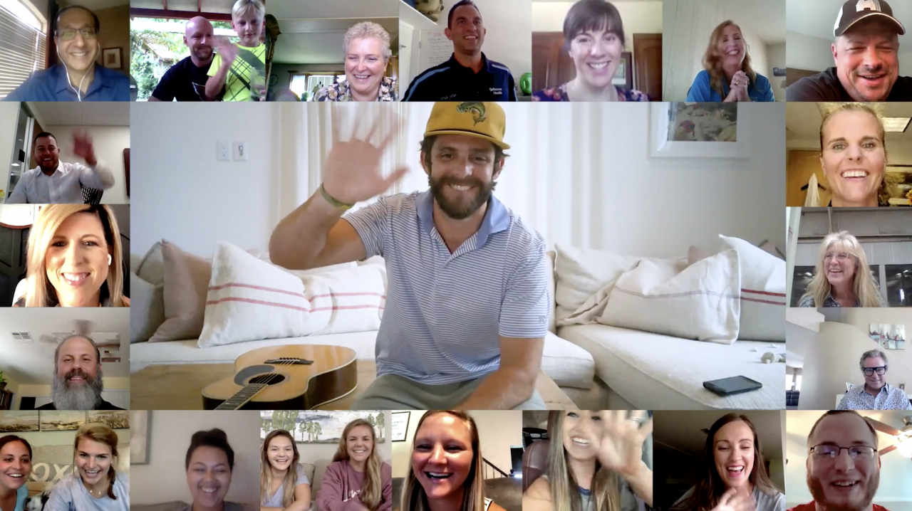 Thomas Rhett Thanks Healthcare Workers in 'Be a Light' Livestream