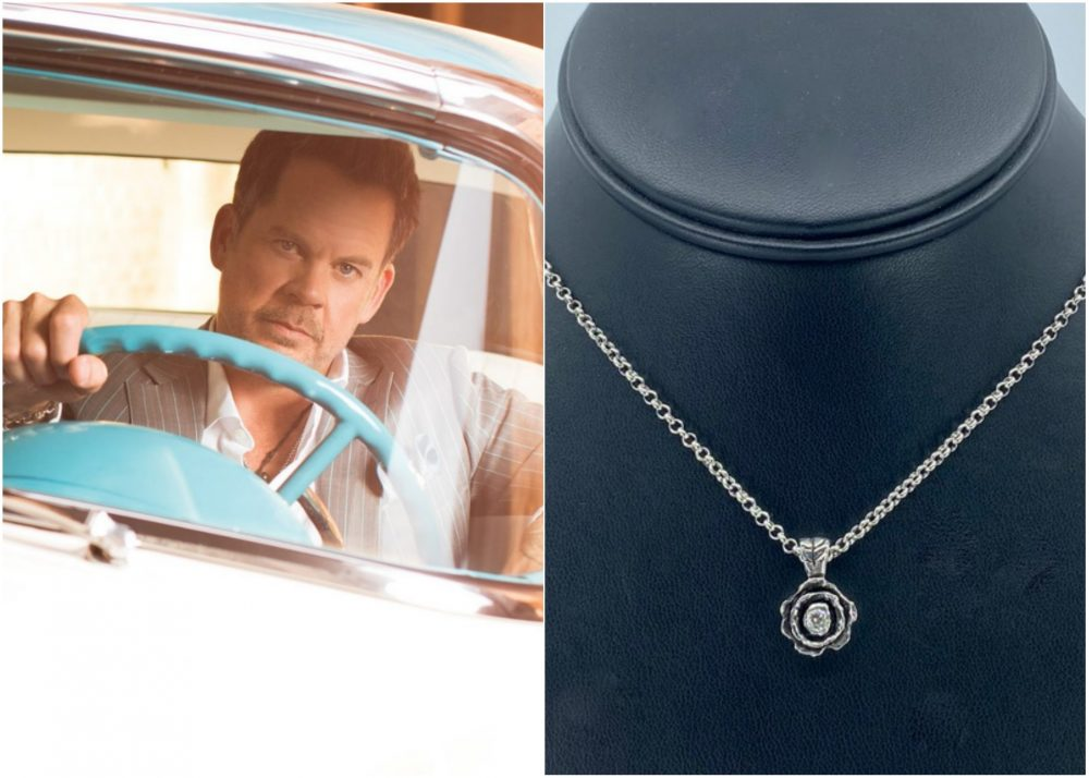 Enter For A Chance to Win a Gary Allan Black Rose White Diamond Pendant Necklace