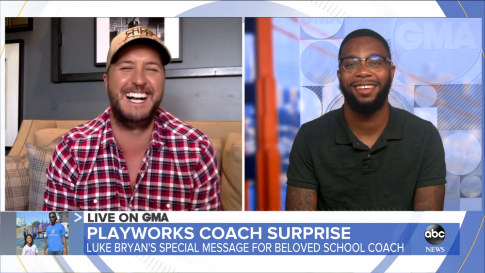 Luke Bryan Surprises California Elementary Coach on 'Good Morning America'