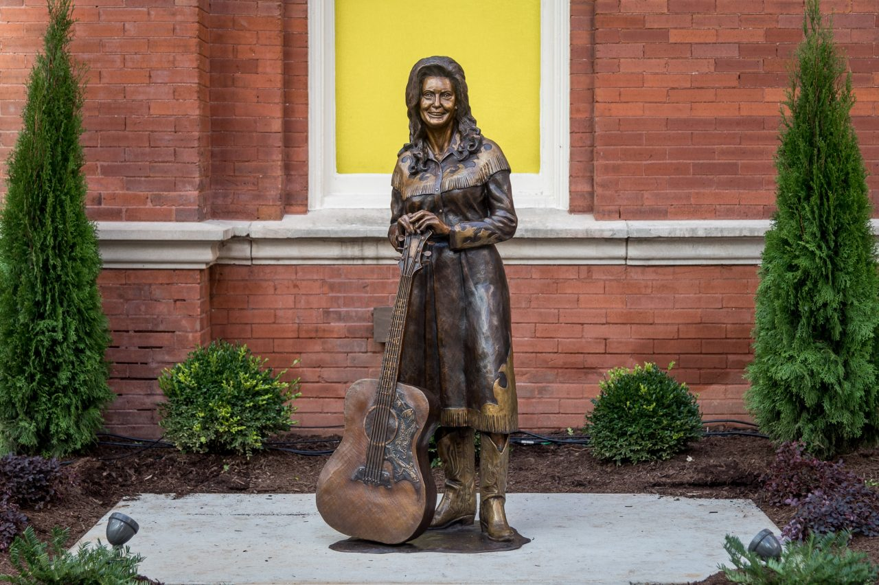 Loretta Lynn Statue Unveiled at Ryman Auditorium Icon Walk