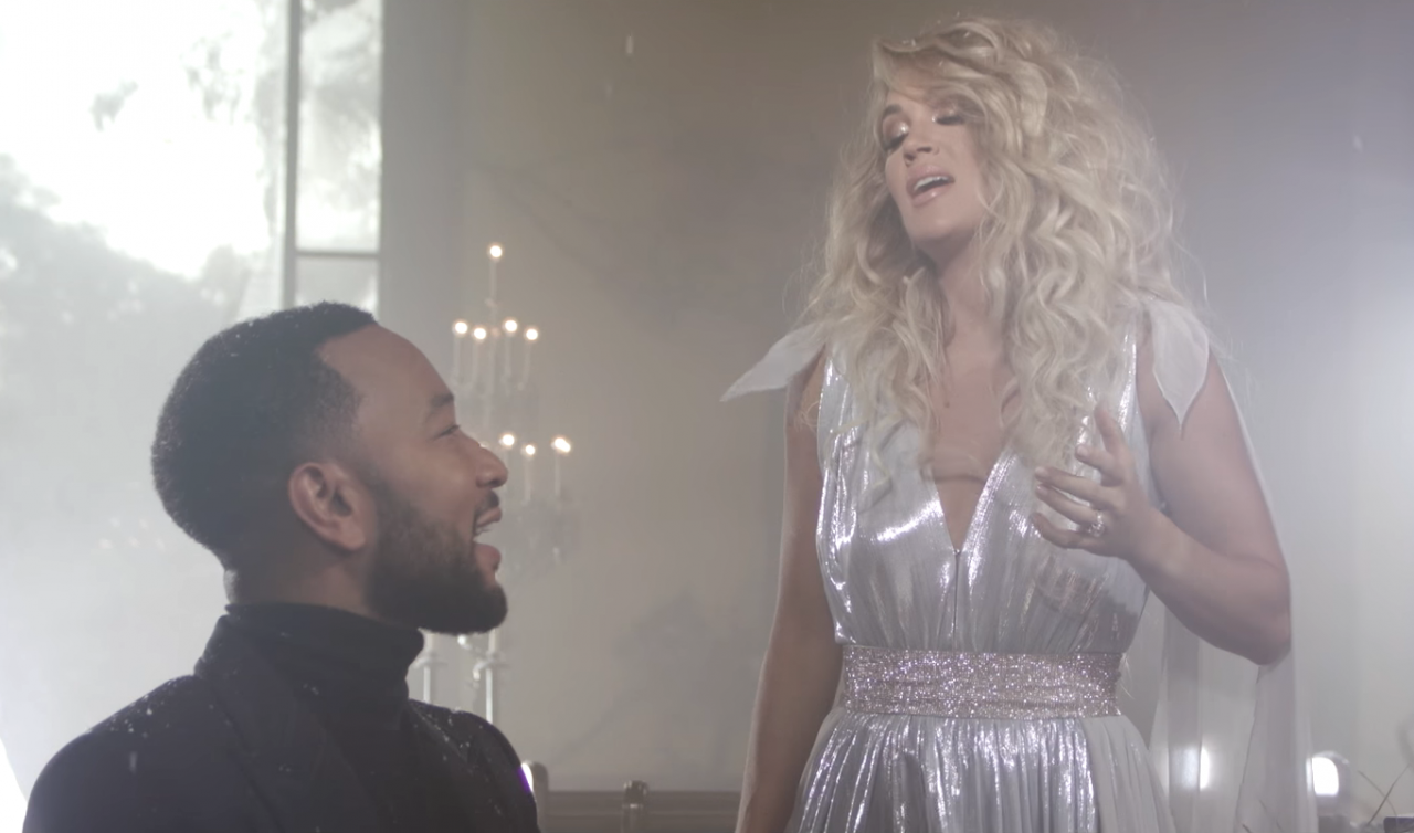 Carrie Underwood and John Legend Come Together 'Hallelujah' Video