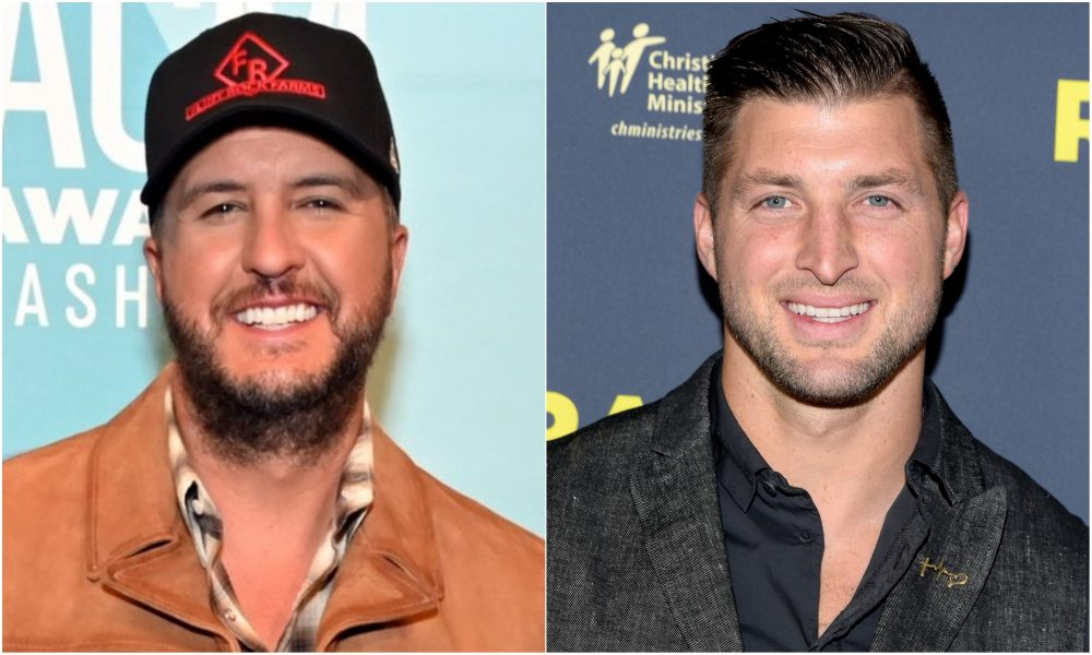 Luke Bryan Scores a Heisman Trophy From Tim Tebow