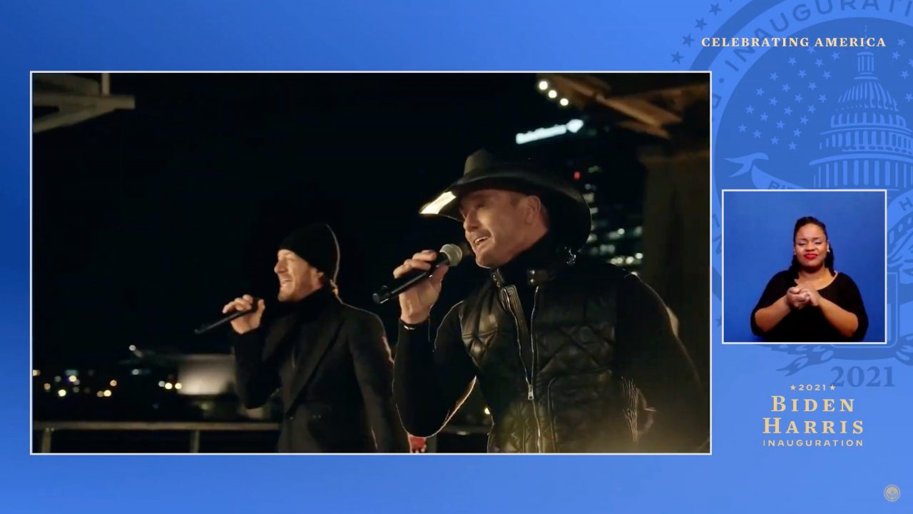 Tim McGraw and Tyler Hubbard Perform 'Undivided' After Inauguration