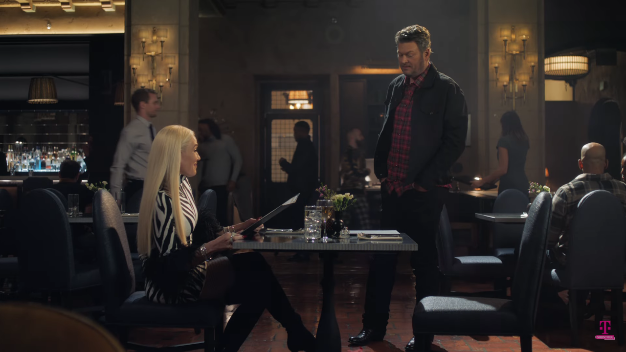 Blake Shelton and Gwen Stefani Find Love in a Super Bowl Commercial